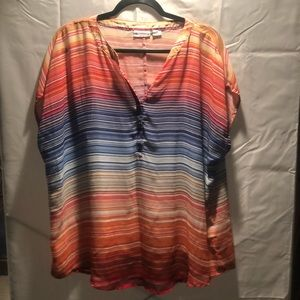 Liz Claiborne Rainbow Chiffon Top with Tank